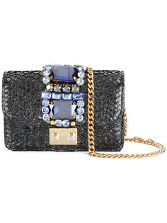 сумка Mini Clicky с блестками Gedebe