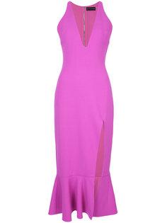 приталенное платье с V-образным вырезом David Koma