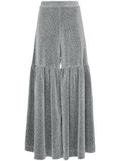 расклешенная юбка металлик  Elaidi