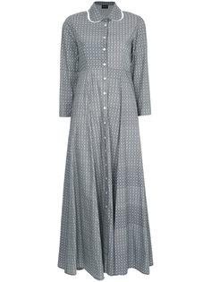 платье-рубашка макси с вышивкой  Elaidi