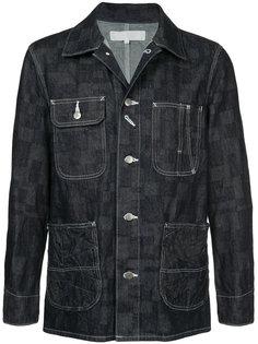 джинсовая куртка в клетку Anrealage