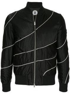 куртка-бомбер на молнии Anrealage