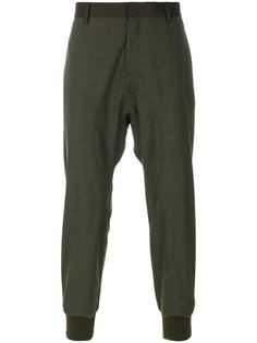 брюки с пристроенными щиколотками Neil Barrett