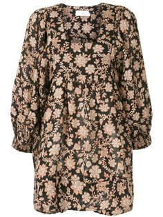 короткое платье с цветочным принтом Zimmermann