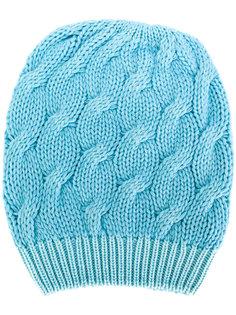 шапка вязки с косичками Cruciani