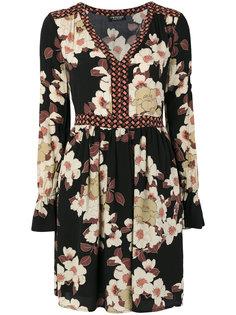 платье с V-образным вырезом и цветочным принтом  Twin-Set