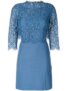 многослойное платье с кружевным верхом Twin-Set