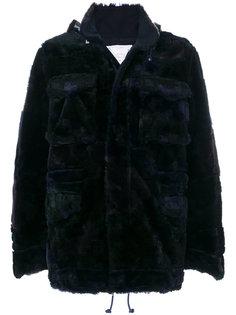пальто из искусственного меха Sacai