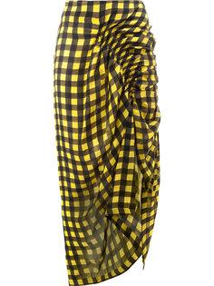 клетчатая юбка с перекрученным эффектом Preen By Thornton Bregazzi