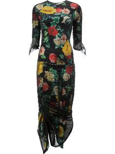 платье с цветочным принтом  Preen By Thornton Bregazzi