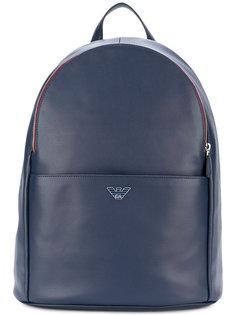 рюкзак с бляшкой с логотипом Emporio Armani