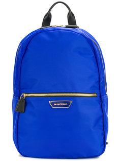 рюкзак с бляшкой логотипом Emporio Armani
