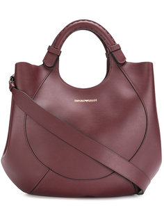сумка-тоут с тиснением логотипа Emporio Armani