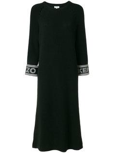 вязаное платье длины миди Kenzo