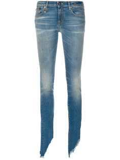 состаренные джинсы слим  R13