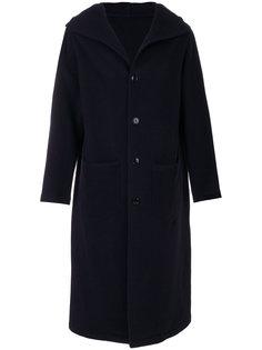 длинное пальто с капюшоном Mp  Massimo Piombo