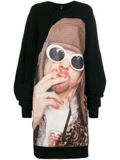 платье-свитер с принтом  R13