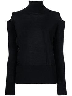 свитер с высоким воротником и вырезами на плечах Zanone