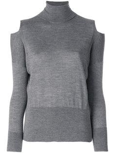 свитер с вырезами на плечах Zanone