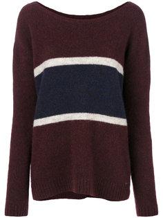 свитер со вставкой в полоску  Woolrich