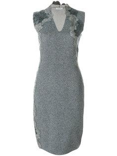 приталенное платье с V-образным вырезом D.Exterior