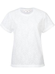 tonal floral embroidered T-shirt Comme Des Garçons
