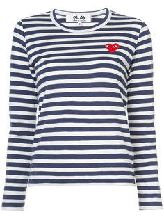 striped heart patch T-shirt Comme Des Garçons Play