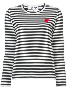 полосатая футболка с заплаткой в виде сердца Comme Des Garçons Play
