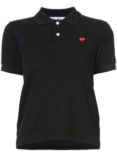 футболка-поло с заплаткой в виде сердца Comme Des Garçons Play