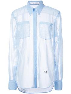 прозрачная рубашка с длинными рукавами Victoria Beckham