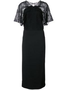 платье с кружевной вставкой Roland Mouret