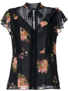 блузка с цветочным принтом  Coach