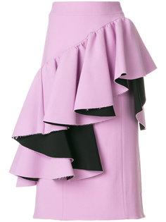 асимметричная юбка с воланами Marni