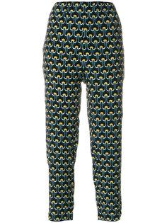 укороченные брюки с принтом Portrait Marni