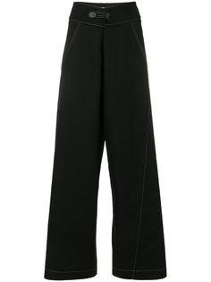 широкие брюки с декоративной строчкой Marni