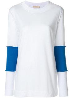 футболка с вязаными деталями Marni