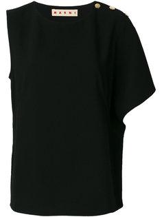 асимметричная футболка Marni