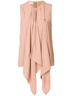блузка с драпированной деталью  Marni