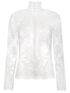 кружевная полупрозрачная блузка Lady Jane Bella Freud