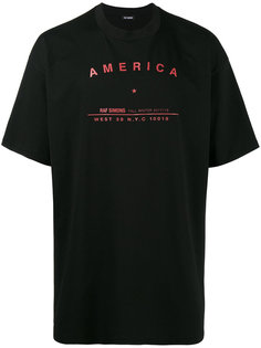 футболка с принтом America  Raf Simons