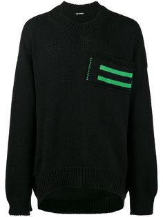 свитер с полосками на кармане Raf Simons