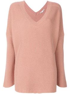 свитер с V-образным вырезом с ребристой фактурой Stella McCartney