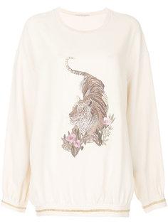свитер с вышитым тигром Stella McCartney