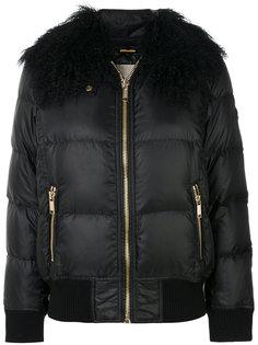 куртка-пуховик с воротником из меха ягненка Michael Michael Kors