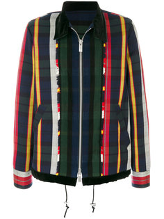 куртка в полоску на молнии Sacai