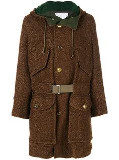 пальто с капюшоном Sacai