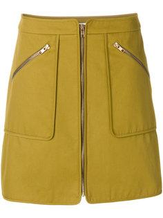 короткая юбка на молнии Kenzo