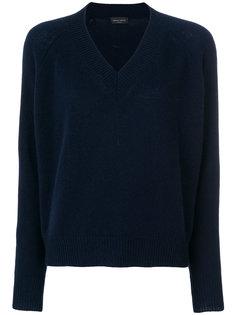 свитер свободного кроя с V-образным вырезом Roberto Collina