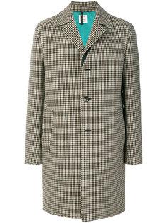 пальто в ломаную клетку Santoni