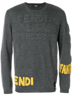 свитер с логотипом Fendi